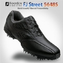 FJ Street 56485 Men's Black Smooth/ Charcoal Textured Inlay Golf Shoes - 7.5 Medium
