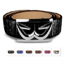 Zen Embossed Croc Collection Belt